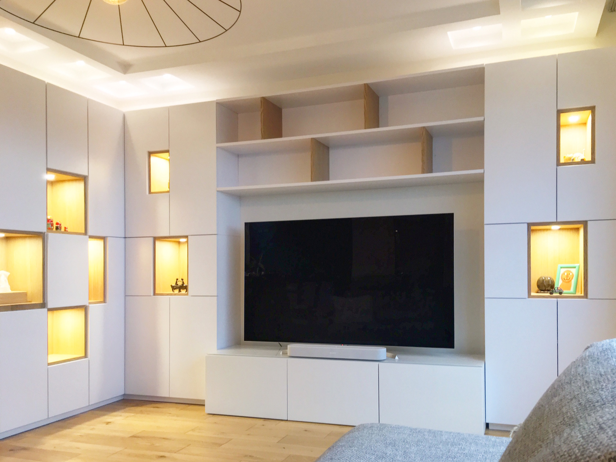 Ensemble bureau - bibliothèque - meuble TV vue 3